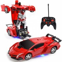 RC Car 1:18 Model Remote Control Transforming Car Robot For Kids Toddlers