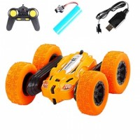 Double Sided 3D Flip Remote Control Car Robot RC Car Toy Drift-Buggy Crawler Operated Stunt Machine Radio Controlled Car Orange No Ratings