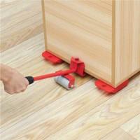 5 Pcs ফার্নিচার মুভিং টুলস Professional Furniture Transport Lifter tool Set Heavy Stuffs Moving Hand Tools Set Wheel Bar Mover Device