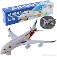 Electric Battery Operated Big Size Airbus A380 Aero Plane, Moves With Led Lights With Music For Kids