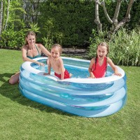 INTEX 57482, Inflatable Floor Portable Swimming Pool for Kids