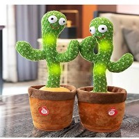 Dancing Cactus Plush Toys, Electronic Swing Cactus, Educational Toys Kids Style with usd charging