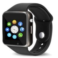A1 Single SIM Supported Wireless Bluetooth Smartwatch - Black