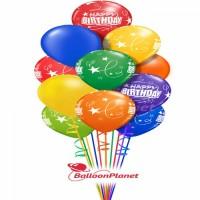 Balloon Salute Birthday Balloon Bouquets (100 Balloons)