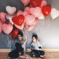 Love Heart Helium Balloons