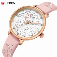 Curren original woman belt watch , water resistant with one year International warranty card service