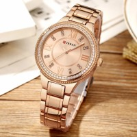 CURREN Original Women's Girls Sports Waterproof Stainless Steel Quartz Wrist Watch