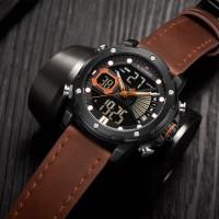 NAVIFORCE 9172 Mens Watch - Business Fashion Luxury - Digital Quartz Dual Time Display - Casual Japanese Quartz Watches