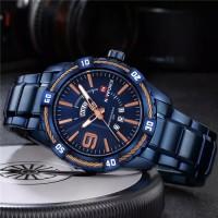 NAVIFORCE Watch Men Fashion Casual Waterproof Quartz Military Stainless Steel Sports Watches Man Clock 9117