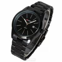Curren 8091 Stainless Steel Black wrist Watch for Men - Black