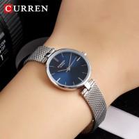 CURREN original  Woman Watch Brand Luxury Sliver Mesh Stainless Steel Quartz Watches Ladies