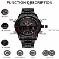 Naviforce original Men's tow time digital and analogue watch