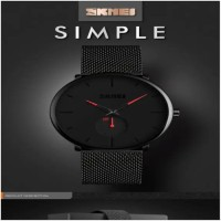 SKMEI 9185 Men Watch Quartz Wristwatch 30M Waterproof Big Dial Display Quartz Watch
