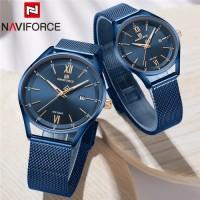 NAVIFORCE original  3013 brand couple watch waterproof stainless steel ultra-thin mesh steel band quartz watch - way to  with one year  international warranty card service