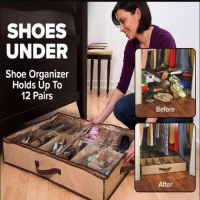 Shoes Under Holds 12 Pairs of Shoes