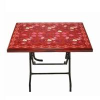 Restaurant Table St/Leg Printed Lily - Rose Wood