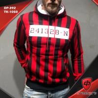 Men's Winter Red striped Stylish Hoodies